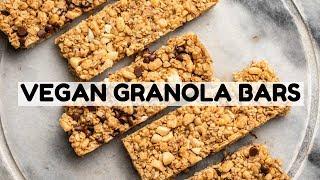 Homemade VEGAN Chewy Granola Bars (3 Ways!)