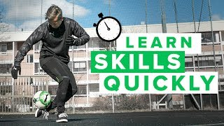 Learn 2 football skills quickly with Kieran Brown