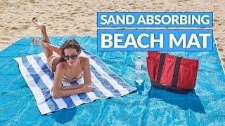 Пляжное покрывало анти песок 200*200 см от компании Интернет магазин Voltron - видео