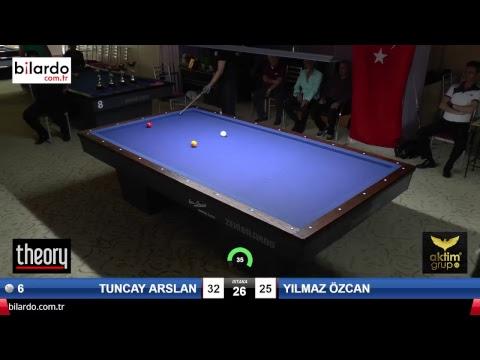 TUNCAY ARSLAN & YILMAZ ÖZCAN Bilardo Maçı - AKSOY BİLARDO 3 BANT TURNUVASI-Çeyrek Final
