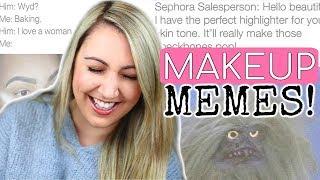 Beauty Guru Reacts To: FUNNIEST MAKEUP MEMES!