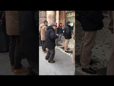 Elderly Man Dances in the Streets of Italy || ViralHog