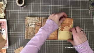 EASY Paper Bag Junk Journal Tutorial Part 1 - Cover And Decorating