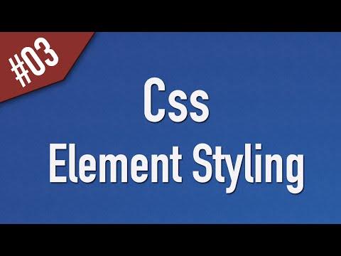 تعلم CSS القائمة #1 الفديو #3