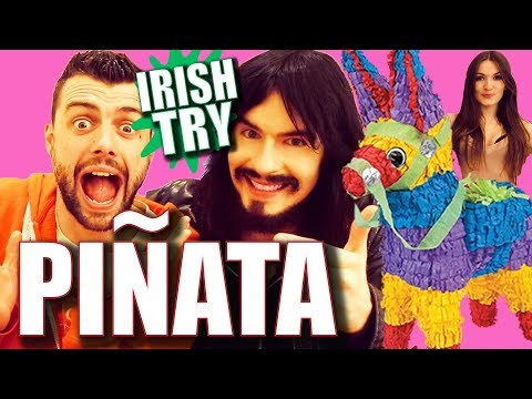 Irish People Try Smashing a PIÑATA for The First Time!!