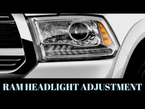 HOW TO: 4TH GEN RAM 1500 HEADLIGHT ADJUSTMENT - CARS&CRAFTSMAN