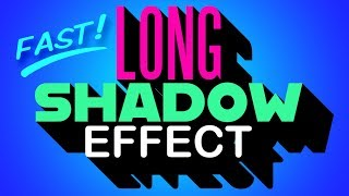 Photoshop QUICK Tip:  Easiest Way to Create Long, Solid, Drop Shadows!
