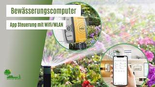 Gartenbewässerungssystem, WiFi/WLAN Steuerung, Gartenbewässerung für den Rasen, Bewässerungscomputer