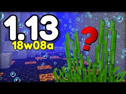 NOVÉ PODMOŘSKÉ GENERACE, ÚTESY v Minecraftu 1.13! 18w08a (Aquatic Update)