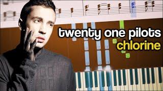 CHLORINE (Twenty One Pilots) - Piano Tutorial + SHEETS