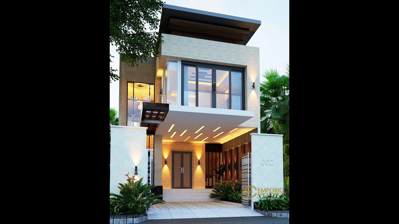 Video 3D Desain Rumah Modern 2 Lantai Ibu Herlina di Sumatera Utara