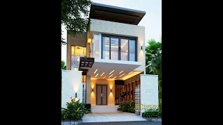 Video Mrs. Herlina Modern House 2 Floors Design - Sumatera Utara