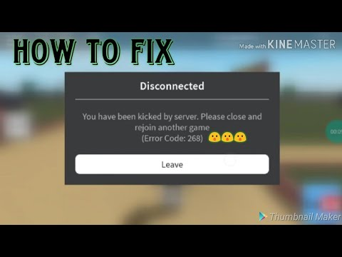 roblox error code 268 how to fix