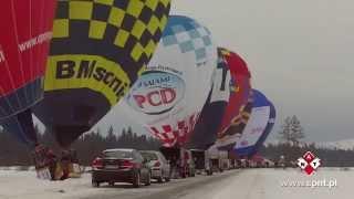 preview picture of video 'I Nowotarskie Zimowe Zawody Balonowe - Lotnisko Nowy Targ 18-20 stycznia 2013'