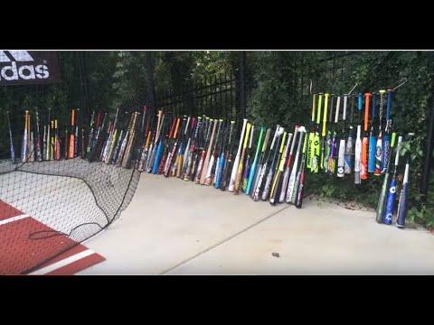 Massive Baseball Bat Collection: JustBatReviews.com Headquarters