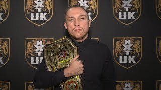 Pete Dunne celebrates NXT UK