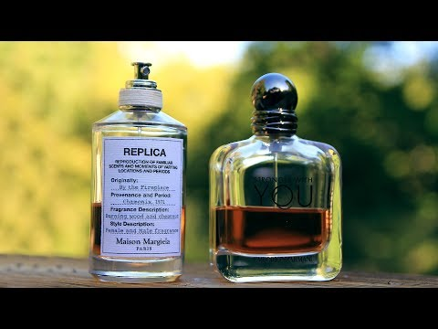 MARTIN MARGIELA REPLICA BY THE FIREPLACE VS ARMANI STRONGER WITH YOU