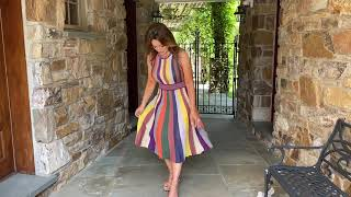 Bold Stripe Fit And Flare Midi Dress