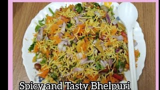 Spicy and Tasty Bhelpuri Chat|Indian Street food Bhelpuri|How to make Bhelpuri at home with Subtitle