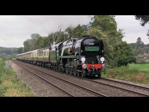35028 'Clan Line' putting in a fine performance on 'The Belm…