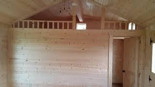 14' x 48' Bear | Deer Run Cabins - Amish Made Cabins & Cabin Kits