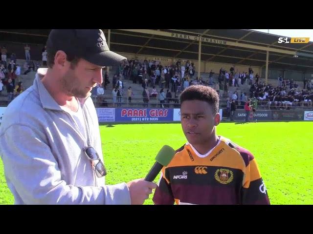 Schools Rugby - Paarl Gim XV vs Rondebosch XV