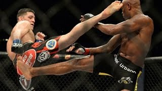 Anderson Silva Vs Nick Diaz FIGHT HIGHLIGHTS