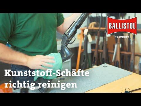 ballistol: Waffenreinigung mit BALLISTOL − Teil 2: Reinigung von Kunststoffschäften im Video