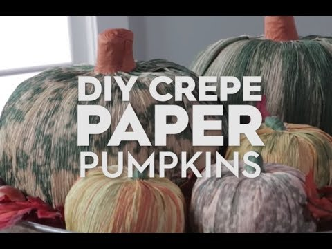 Crepe Paper Mache Pumpkin | Made By Me Crafts | Better Homes & Gardens