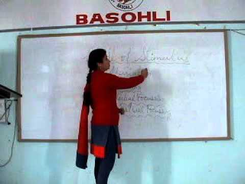 Ms. Madhu Sharma giving Lecture