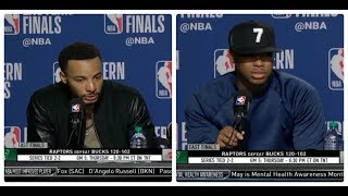 Norman Powell, Kyle Lowry (TOR) Postgame Conference | TOR def. MIL 120-102 | Game 4 NBA East Final