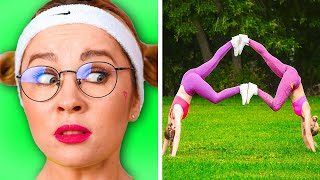FUNNY GYMNASTICS CHALLENGES AND WORKOUT FAILS || Awkward Moments in Sports