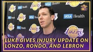 Lakers Interview: Luke Walton Believes Lonzo Was Turning a Corner Before His Ankle Injury