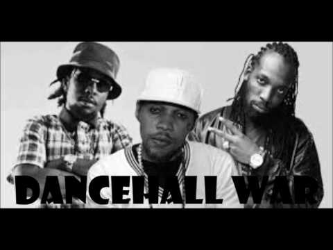 Dancehall War Ft. Mavado Popcaan Vybz Kartel Demarco Aidonia Alkaline march 2018