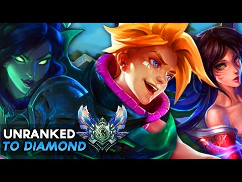 PLACEMENT GAMES - VAYNE/EZREAL/AHRI - Unranked to Diamond #1 S7 (League of Legends)