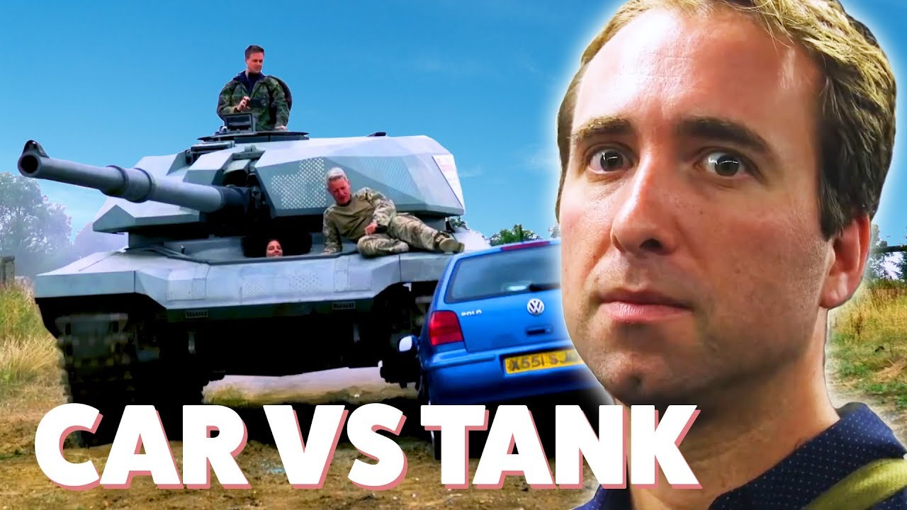 We Tried To Crush A Car With A Tank • Ultimate Bucket List thumbnail