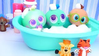 Baby Doll Bath Time ! Toys and Dolls Fun Learning Video for Kids | SWTAD