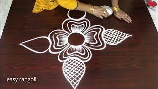 Latest Small Kolam Designs For Beginners * Easy & Simple Rangoli By Suneetha * New Muggulu