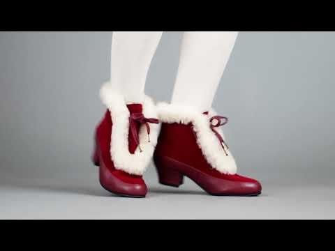 PRE-ORDER Alpen Women's Retro Winter Booties (Oxblood/Ivory)