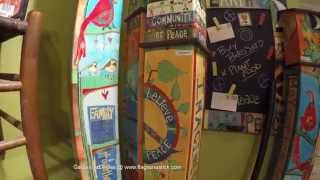 Painted Peace Garden Art Poles By Studio M