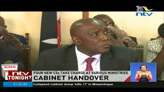 New cabinet secretaries take over offices from predecessors