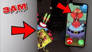 DO NOT FACETIME MR. KRABS AT 3AM!! *OMG THEY ACTUALLY CAME TO MY HOUSE*