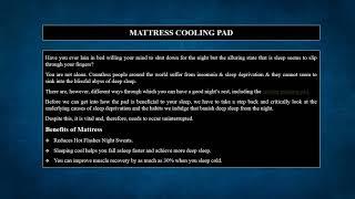 Mattress Cooling Pad