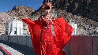 MAKING HISTORY: Jessica Minh Anh transformed Hoover Dam into a catwalk