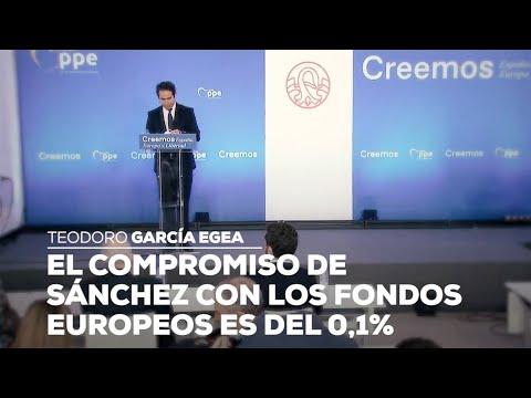 El compromiso de Sánchez con los fondos europeos es del 0,1%