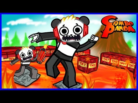 The Best FLOOR IS LAVA Roblox Games Let's Play with Combo Panda (видео)