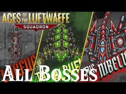Aces of the Luftwaffe Squadron // All Bosses