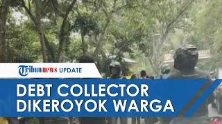 Tunggu Customer untuk Tagih Utang, 4 Debt Collector Dikeroyok Warga, Dua Motor Dibuang ke Parit