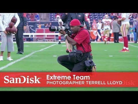 San Francisco 49ers photographer Terrell Lloyd