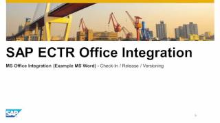 SAP Engineering Control Center MS Office Integration